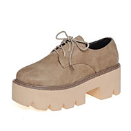 Women's Sneakers Spring / Fall / Winter Creepers Leatherette Outdoor / Casual Platform Lace-up Black / Brown Others
