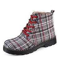 Boty-Plátno-Kombat boty-Dámské-Žlutá Červená-Běžné-Plochá podrážka