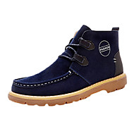 Men's Boots Spring / Fall Comfort / Combat Boots / Round Toe PU Casual Flat Heel Others Blue / Brown