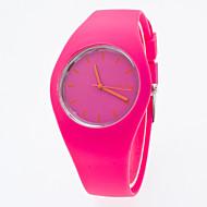 Reloj Mujer Candy Color Silicone Band Watch Lady Geneva Qartz Watch Top Brand Watch Ladies Students Boy Girls Watch