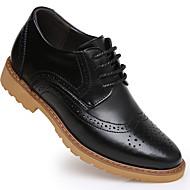 Herre-Lær-Flat hæl-Komfort-Oxfords-Fritid-
