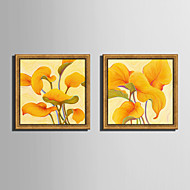 E-HOME® Framed Canvas Art,  Yellow Leaves Framed Canvas Print One Pcs