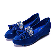 Women's Flats Spring / Summer / Fall /  Comfort  Casual Flat Heel Crystal / Tassel Black / Blue / Pink / Purple / Red