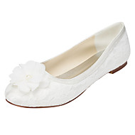 Women's Flats Spring / Summer Others Stretch Satin Wedding / Party & Evening / Dress Flat Heel Applique Ivory / White Others