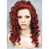 imstyle качества 20''top каштановый фигурных парики из синтетических фронта шнурка высокой термостойкие