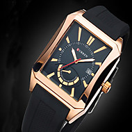 Men Business watches Men's Quartz Date Analog Rectangle Dial Casual Watch Sports Relogio Masculino montre homme