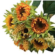 1 bouquet/Set 5 Ramo Seda / Plástico Girassóis Flor de Mesa Flores artificiais 3.3 inch X 10 inch