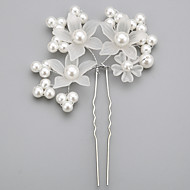 Women's Flower Girl's Alloy Imitation Pearl Acrylic Headpiece-Wedding Special Occasion Hair Pin 1 Piece