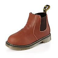 יוניסקס-מגפיים-עור-מגפי שלג / מגפי אופנה-כחול / חום / צהוב-שטח / קז'ואל-עקב שטוח