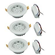 לד  Downlights לבן חם / לבן קר LED שלושה חלקים