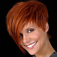 Cheap Perfect Hot Sale Cute Synthetic Wigs Short Straight Layered Brown Color For Women