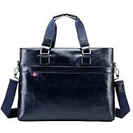 Men PU Office & Career Laptop Bag Blue / Gray / Black