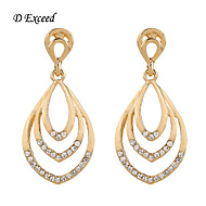 2016 Newest Gold Plating With Diamond Geometric Chandelier Drop Earring for Women ER119365