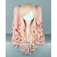 ροζ περούκα μικτή αρκετά lolita περούκα gothic lolita ροζ περούκα αλογοουρές πριγκίπισσα cosplay περούκα μακριά κυματιστά