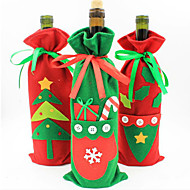 karácsonyi díszek az új üveg set pezsgő bor ajándék zacskó cukorkát zacskó karácsonyi termékek színes random