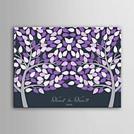 e-home spersonalizowany podpis płótnie niewidoczne kadrów -Purple dwóch dużych drzew