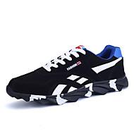Herren-Sneaker-Sportlich-Stoff PU-Flacher Absatz-Mary Jane-Schwarz Blau Rot
