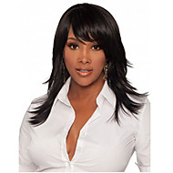 Long Hair Black Color Straight Synthetic Wigs for Women