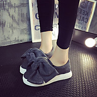 Women's Loafers & Slip-Ons Spring Fall Platform Polyester Casual Platform Bowknot Black Gray Other