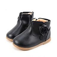 Boty-Kůže-Sněhule / Bootie / Motorkářské boty / Pohodlné-Dívčí-Černá / Růžová / Červená-Outdoor / Běžné / Atletika-Nízký podpatek