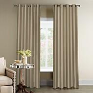 Jeden panel Window Léčba Designové , S proužky Obývací pokoj Polyester Materiál záclony závěsy Home dekorace For Okno