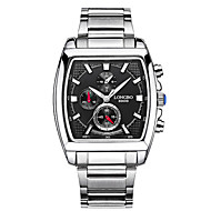 LONGBO Men's Steel Silver Band Quartz Water Resistant Sports Dress Watchwith Jewelry Box