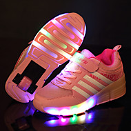 Girl's Sneakers Spring / Summer / Fall / Winter Slide / Comfort Leather Outdoor / Athletic / Casual Low Heel LED / Hook & Loop / Lace-up