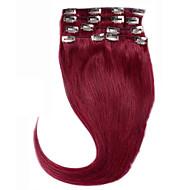 cor do cabelo #bug clipe no remyvirgin extensões de cabelo humano sedosa grampo de cabelo em linha reta 7pieces cabelo brasileiro reta