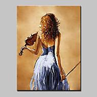 Handgeschilderde Mensen / Abstracte portretten Olie schilderijen,Modern Eén paneel Canvas Hang-geschilderd olieverfschilderij For
