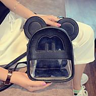 캐쥬얼 백팩 여성제품 PU 화이트 핑크 그레이 블랙 다크 레드