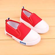 Para Meninas Mocassins e Slip-Ons Conforto Lona Casual Conforto Branco Preto Vermelho Rosa claro Menos de 2,5cm