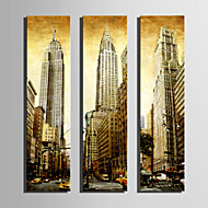 Arkitektur Canvastryck Tre paneler Redo att hänga , Vertikal