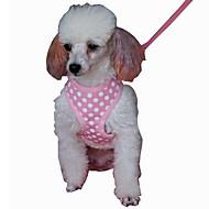 犬用品 ハーネス / リード 調整可能/引き込み式 / コスプレ / 高通気性 / 安全用具 / ソフト / ランニング / ベスト / カジュアルスーツ 純色 ブラック / グリーン / ブルー / ピンク メッシュ / クロス