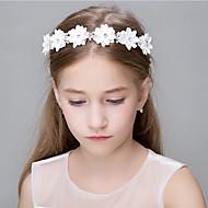 Dame Blonde Rhinstein Krystall Imitert Perle Kubisk Zirkonium Polyester Agate Skum Organza Hodeplagg-Bryllup Spesiell Leilighet Avslappet