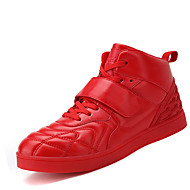 Men's Sneakers Comfort Synthetic Casual Flat Heel Magic Tape / Lace-up Black / Red / White Others