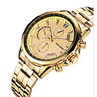 Men's Dress Watch Quartz Noctilucent Alloy Band Black / Gold Brand