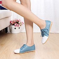Women's Flats Spring Summer Mary Jane Leather Outdoor Flat Heel Others Black Blue Red White