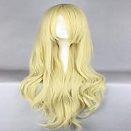 anime fremme Touhou Project kirisame Marisa 80cm lang bølget blonde cosplay paryk