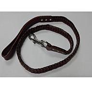 Cat / Dog Leash Handmade Brown Genuine Leather
