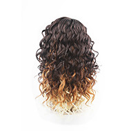 novo estilo médio cabelo castanho rendas frente de onda solta perucas de cabelo sintético rendas