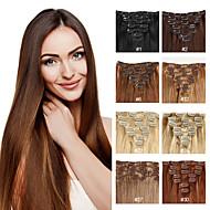 Extensões de cabelo humano 100% Natural 70-120 14-24 Aplique de cabelo