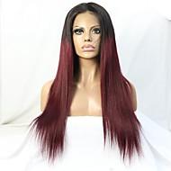 alta qualidade do cabelo de dois tons ombre # 1b / 99j peruca brasileiro virgem frente glueless rendas