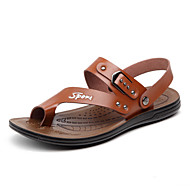 Men's Sandals Summer Slingback Leatherette Casual Flat Heel Others Brown / Khaki Others