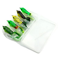 5 pcs Hard Bait / Fishing Lures Frog Random Colors 20 g Ounce mm inch,Hard Plastic Bait Casting