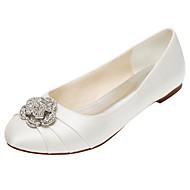 Women's Flats Spring / Summer / Fall Others Stretch Satin Wedding / Party & Evening / Dress Flat Heel Crystal / RufflesBlack / Blue /