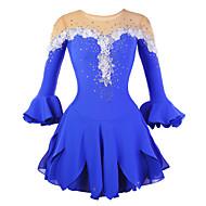 Ice Skating Dress Women's Half Sleeve Skating Skirts & Dresses / Dresses High Elasticity Figure Skating DressBreathable / Wearable /
