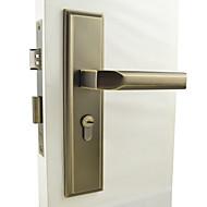 antique fechadura da porta de bronze, bloqueio de alavanca, leverset, alavanca da porta com 3 chaves