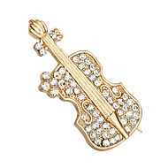 Hot Sale Shining Crystal Violin Shoes Brooch for Women