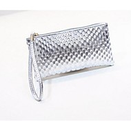 Women Clutch PU Casual White Black Silver Ruby Blue