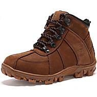 Boty-Nappa Leather-Kovbojské Sněhule-Unisex-Černá Hnědá-Outdoor Běžné-Plochá podrážka